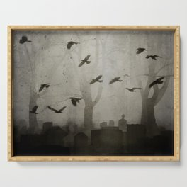 Gothic Crows Eerie Ceremony Serving Tray