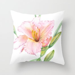 Happy lily Throw Pillow