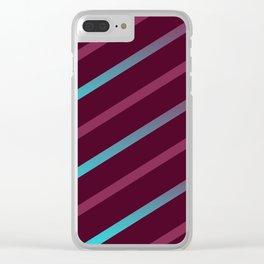 The Burgundy Blues II Clear iPhone Case