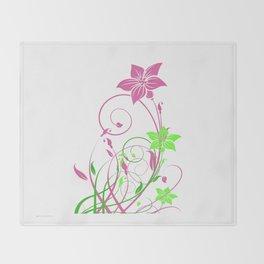 Spring's flowers Throw Blanket