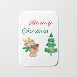 Beary Christmas Teddy Bear Gifts Bath Mat