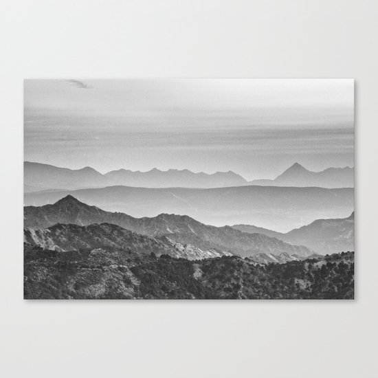 """Mountain dreams"". At sunset. BW Canvas Print"