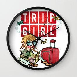 Trip Girl Wall Clock