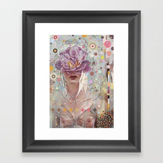 A flower in my garden Framed Art Print