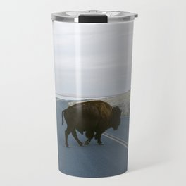 American Bison in The Road Travel Mug