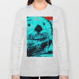 Sea Otter, mint green Long Sleeve T-shirt