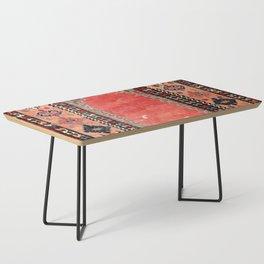 Sivas  Antique Cappadocian Turkish Niche Kilim Print Coffee Table