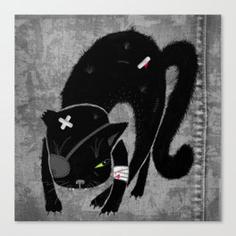 Scary Cat Canvas Print
