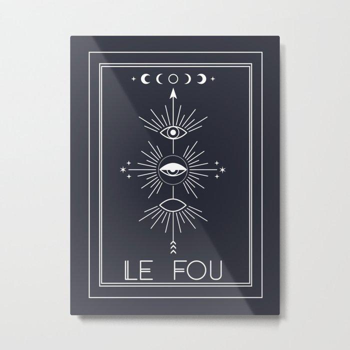 Le Fou or The Fool Tarot Metal Print