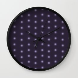 """Polka Dots Degraded & Purple shade of Grey"" Wall Clock"