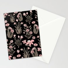 PINK FLOWER AT NIGTH Stationery Cards
