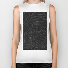 Circles (Black and White) Biker Tank
