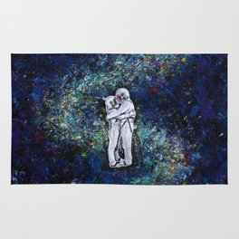 Astronauts in space Rug