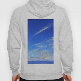 Mediterranean sky with mountains Hoody