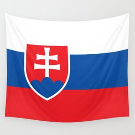 Slovakian Flag - High Quality Image Wall Tapestry