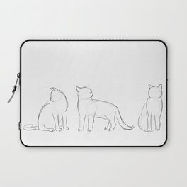 cat contours Laptop Sleeve