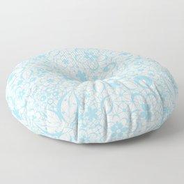 Blue , fishnet , lace Floor Pillow