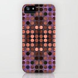 MELANGE of Blue-Coral-Rust iPhone Case