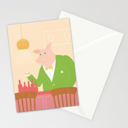 Pig's Bar Stationery Cards