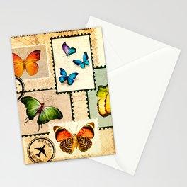 vintage brown post card Stationery Cards