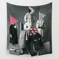 suits Wall Tapestries featuring Fashion Forward by Cassia Beck