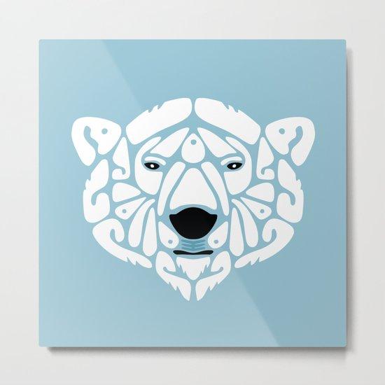 An Béar Bán (The White Bear) Metal Print