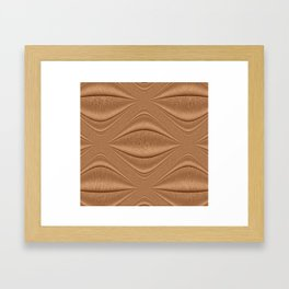 Contour Copper Framed Art Print