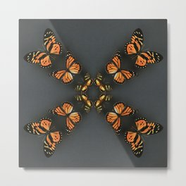 Butterfly Symmetry Metal Print