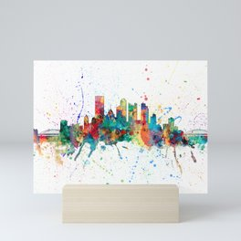 Pittsburgh Pennsylvania Skyline Mini Art Print