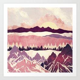 Burgundy Hills Art Print