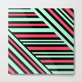 Geometric pattern. Striped triangles 6 Metal Print