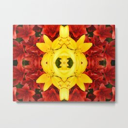 """A Gathering of Lilies"" Remix - 1 (3-1) [D4465~12] Metal Print"