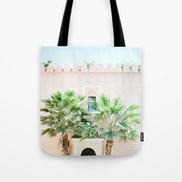 "Travel photography print ""Magical Marrakech"" photo art made in Morocco. Pastel colored. Tote Bag"