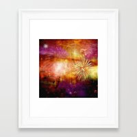 fireworks Framed Art Prints featuring fireworks by haroulita