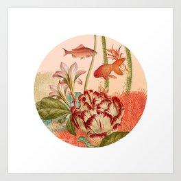 Botanical Fishbowl Art Print