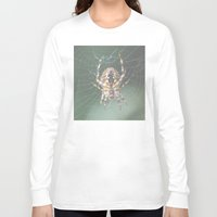 spider Long Sleeve T-shirts featuring Spider by Dora Birgis