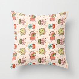 Snow Globe Print Throw Pillow