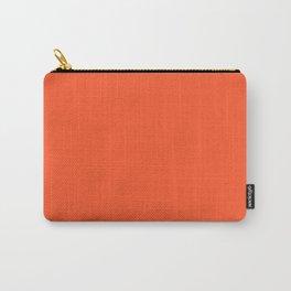 NOW EXUBERANT ORANGE solid color Carry-All Pouch