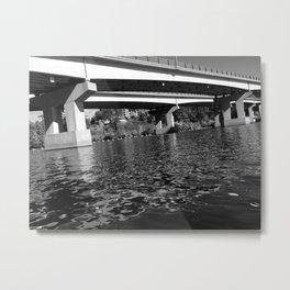 Bridge Over Merrimack - B&W Metal Print