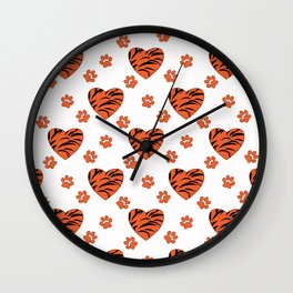Hearts on a white background. Wall Clock