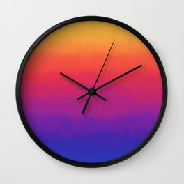 Rainbow Gradient Wall Clock