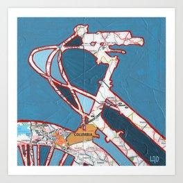 Bike Columbia South Carolina Art Print