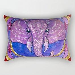 Elephant violet and red mandala Rectangular Pillow