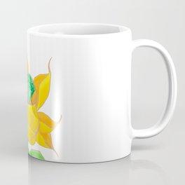 Green Diamond Mech Lotus Coffee Mug