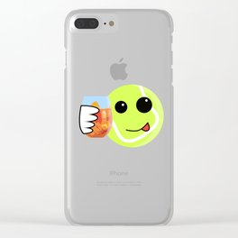 Tennis ball ready to party Clear iPhone Case