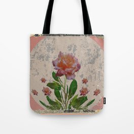 SHABBY CHIC CORAL ANTIQUE PINK ROSES Tote Bag