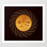 sun and moon Art Prints featuring sun-moon by Vila Propuh