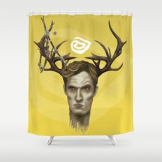 Notice King | True Detective Shower Curtain