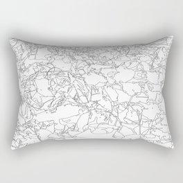 fallen leaves, drawing Rectangular Pillow
