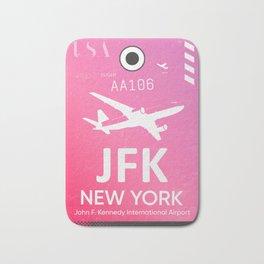 Pink JFK NEW YORK Airport code Bath Mat